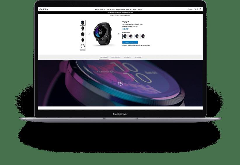 Garmin - Création  site web