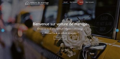 """Refonte du site interne """"Voiture de Mariage"""" - Création de site internet"""