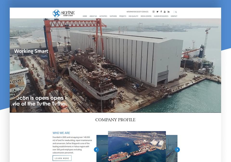 Sefine Shipyard web site