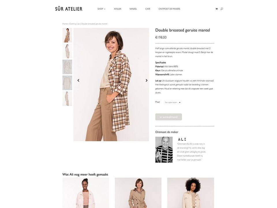 E-commerce website voor retailer