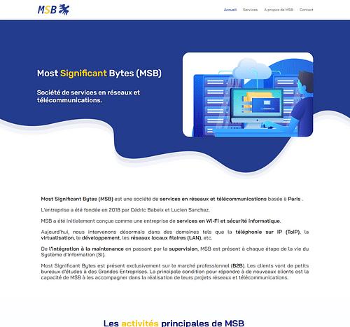 Réalisation site vitrine MSB - Création de site internet