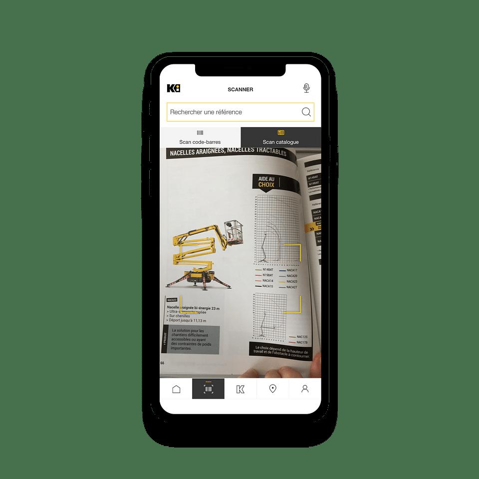 Application mobile Kiloutou