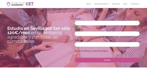 Web Corporativa Residencia de Estudiantes CET - Creación de Sitios Web