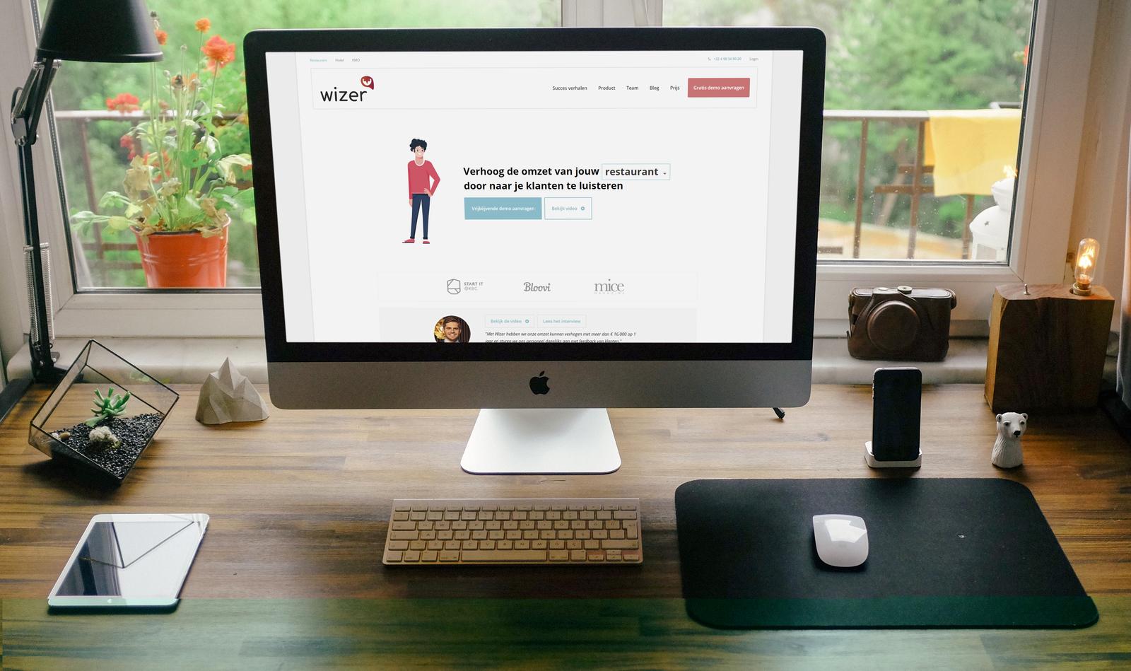 Applicatie, dashboard en website voor startup