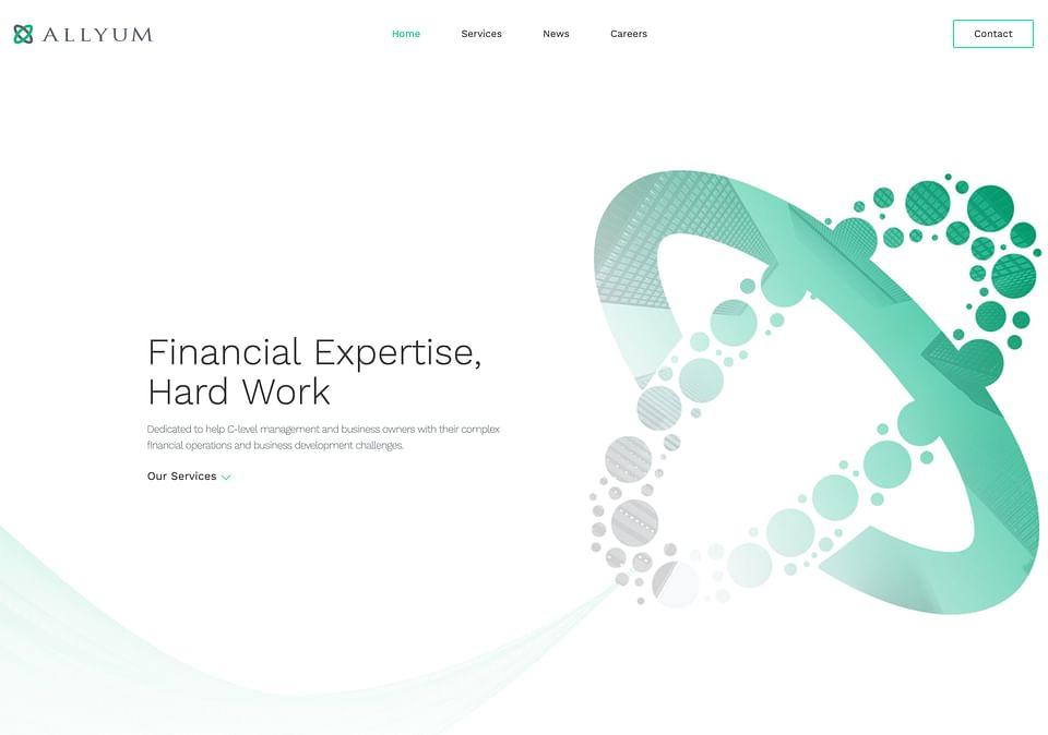 Website for Finance company M&A - Allyum