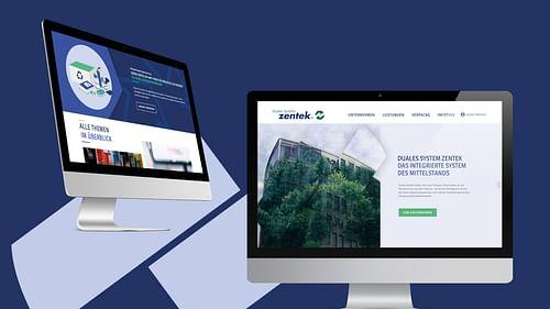 Zentek - CI, Webdesign & Develoment - Webseitengestaltung