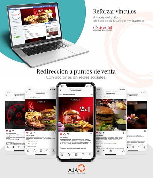 Cotton Grill: gestión de Redes Sociales - Publicidad