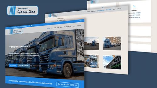 Transport Gesquiere - Website Creatie
