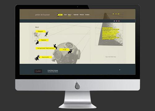 ontwerp en ontwikkeling website Pieter De Buysser - Ontwerp