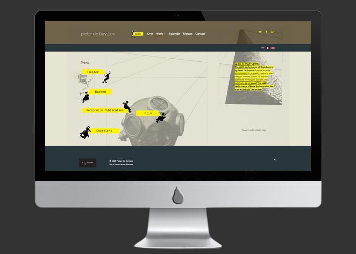 ontwerp en ontwikkeling website Pieter De Buysser