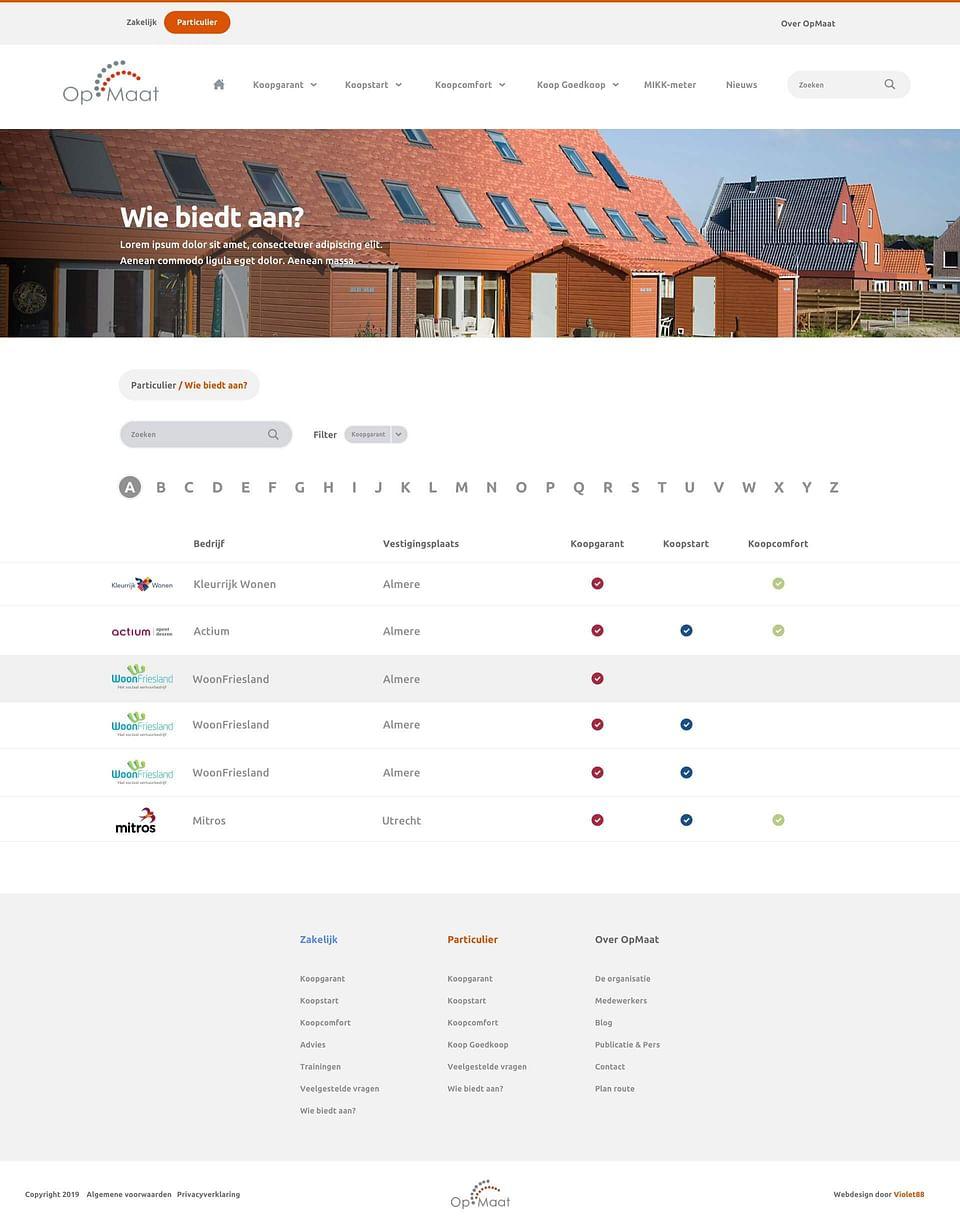 Website Stichting OpMaat