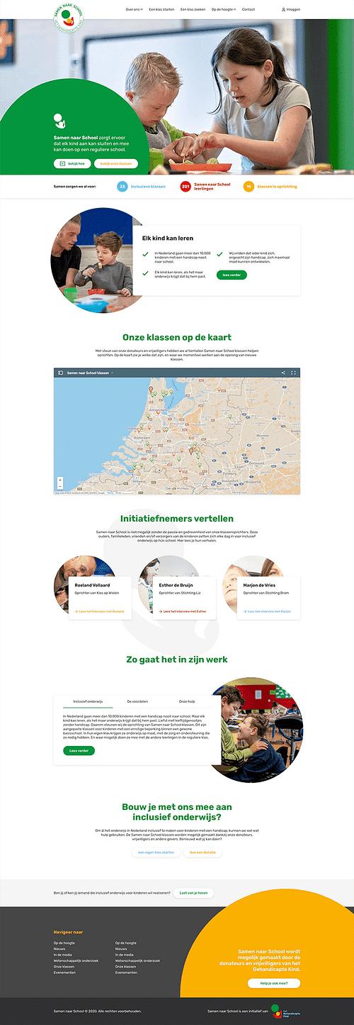 Samen naar School - Website Creatie