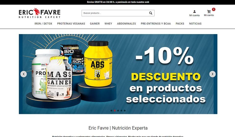 Website&Marketing para alimentación deportiva.