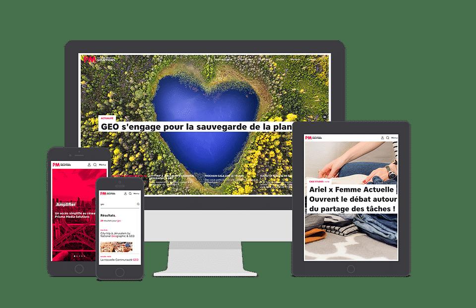 Site corporate BtoB Prisma Media Solutions