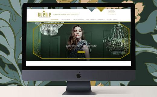Création d'un site web pour une marque de luxe