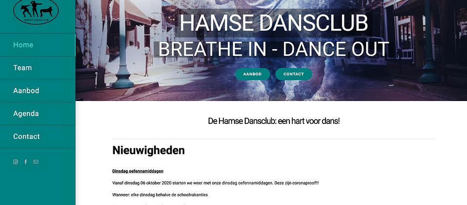WEBSITE HAMSE DANSCLUB