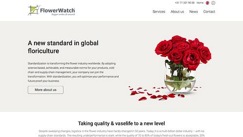 FlowerWatch Website - Branding & Positionering