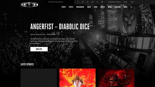 Realisatie website Masters of Hardcore - Website Creatie