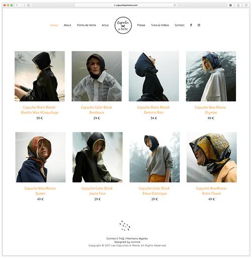 Création d'Eshop - Mode - Création de site internet