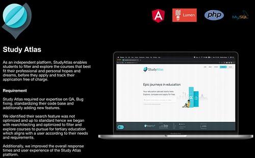 Development services for Study Atlas - Web Application