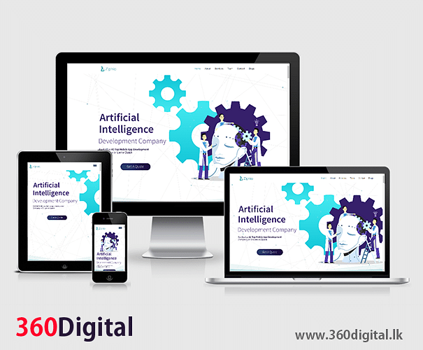Branded Website Design for Ziphio (PVT) LTD