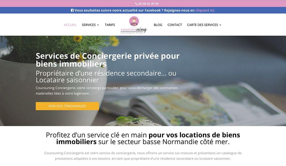 Coucouning Conciergerie - Site internet