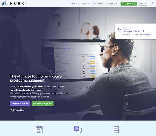 Husky Marketing Planner - Web Applicatie