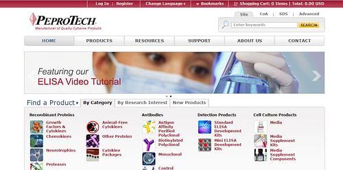 Peprotech - Website Creation