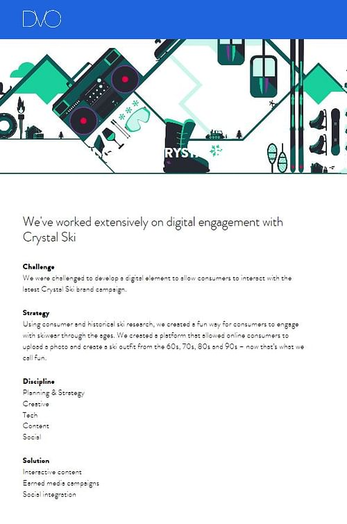 Crystal ski interactive campaign - Content Strategy