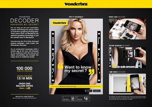 WONDERBRA DECODER - Advertising