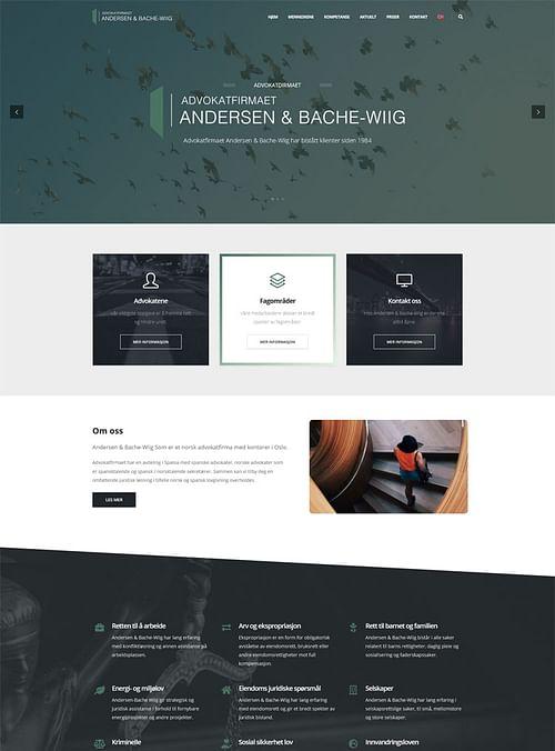 Web Advokatfirmaet Andersen & Bache-Wiig - Creación de Sitios Web