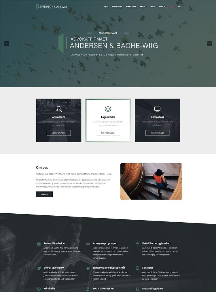 Web Advokatfirmaet Andersen & Bache-Wiig