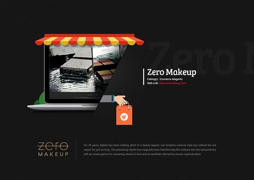 Magento Ecomerce Website Design for Zero Makeup - Website Creation