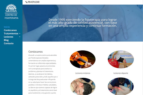 Fisioterapia Granda - Estrategia digital