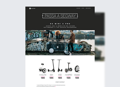 Segway Italy Channel loyalty programs