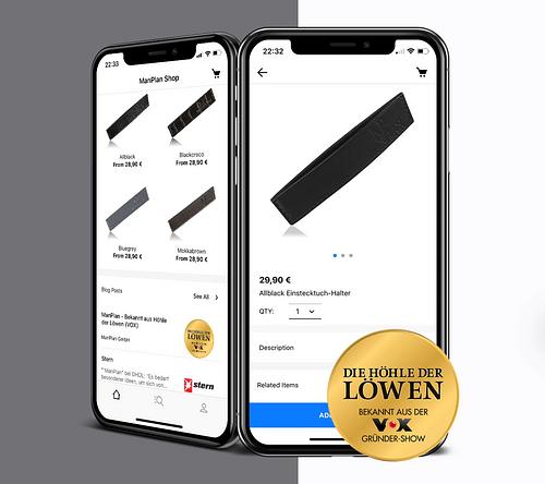ManPlan | Shop App - Mobile App