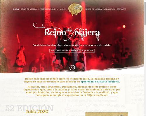 Web Oficial Asociación Crónicas Najerenses - Creación de Sitios Web