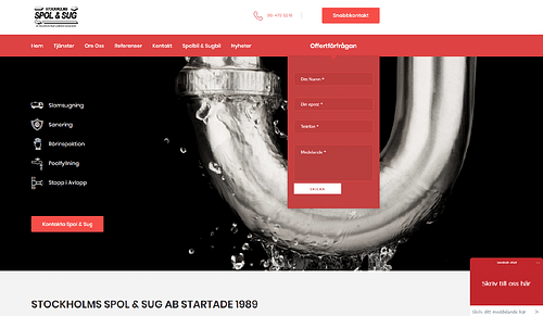 Website for Swedish Plumbing Mega Company. - Web analytics/Big data