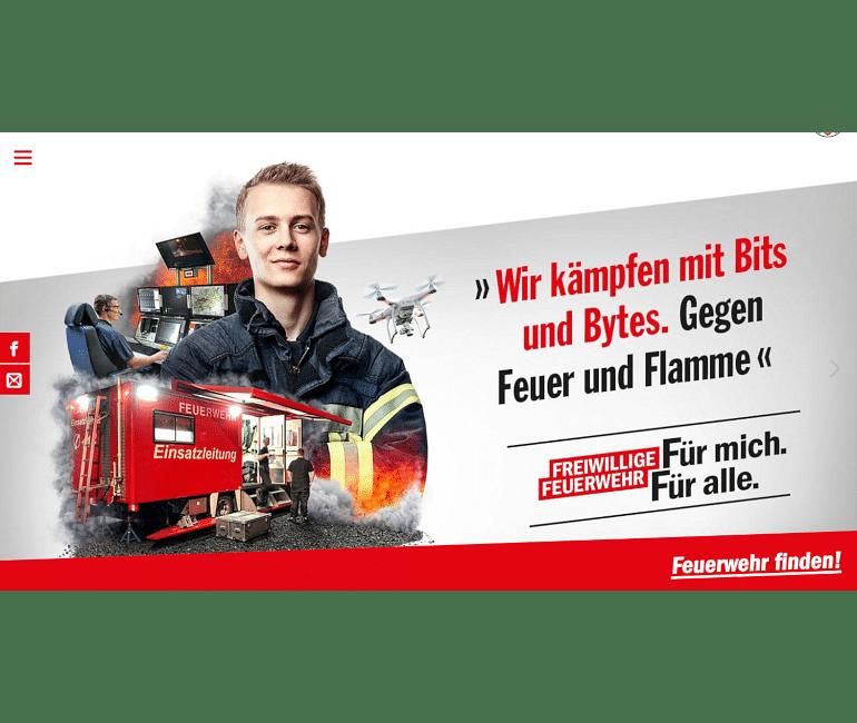 Kampagnenwebsite Freiwillige Feuerwehr NRW