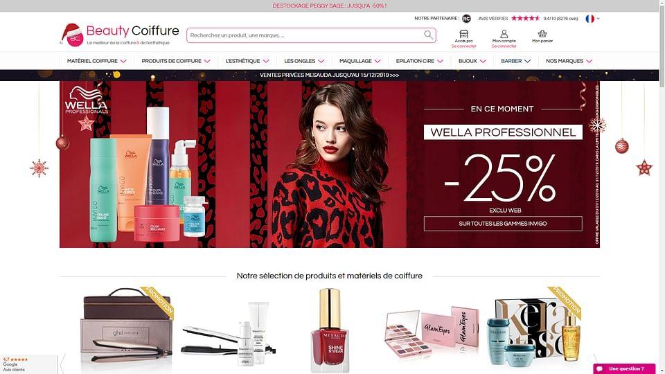 Création site e-commerce Beauty coiffure