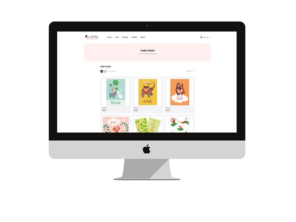 E-Commerce illustratrice pour enfants