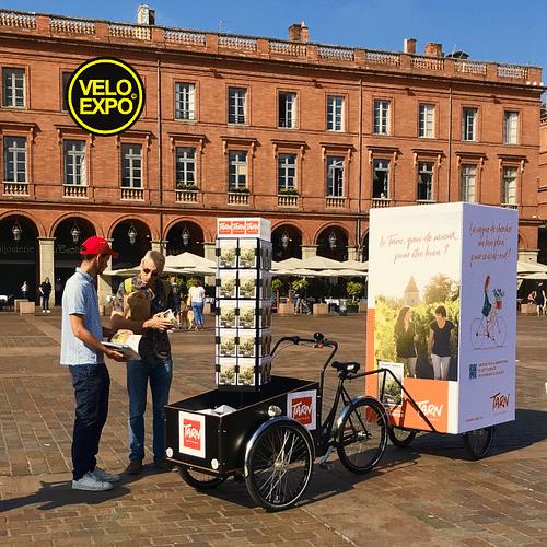 VELO EXPO pour L'OFFICE DU TOURISME DU TARN - Publicité