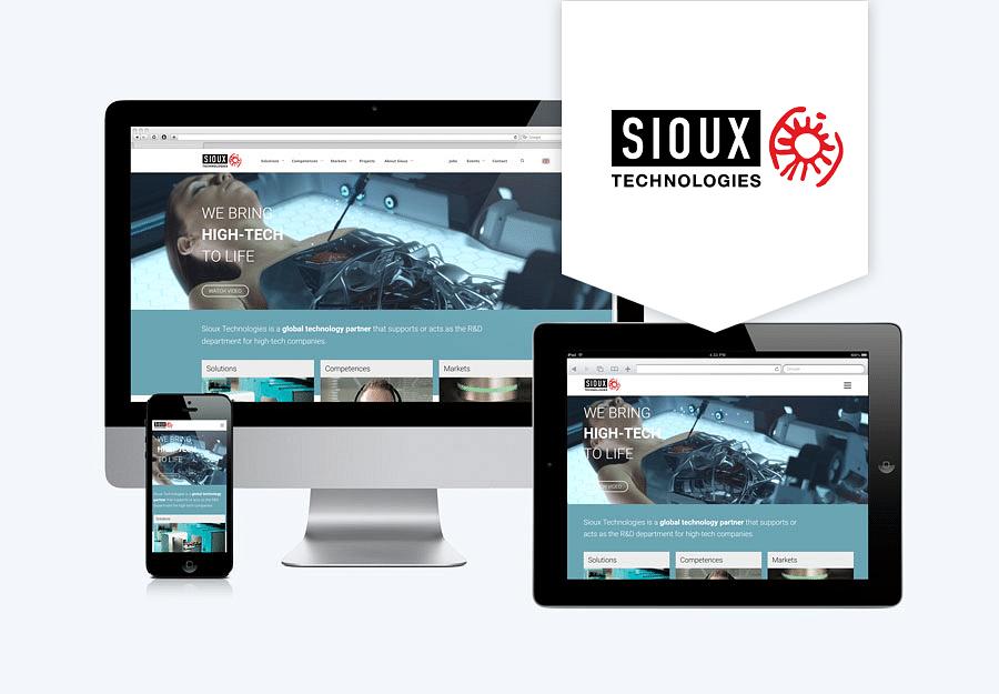 Corporate website Sioux