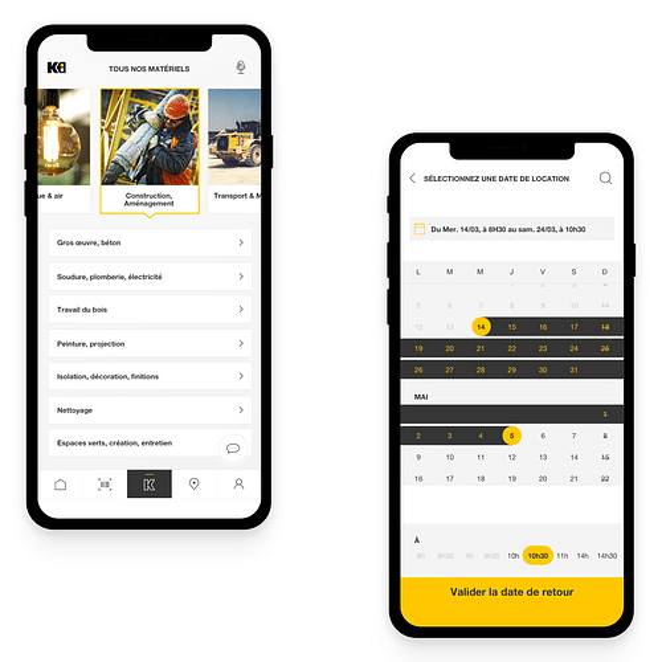 Application mobile Kiloutou - Application mobile