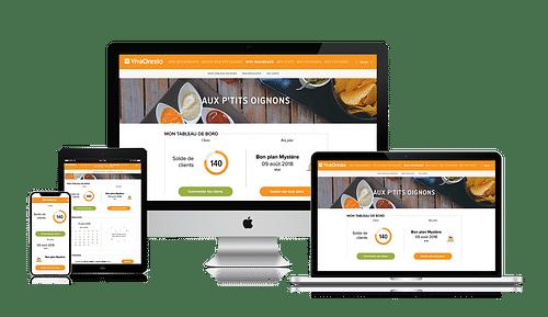 Création du site Groupe UP - Chèque Déjeuner - Application web
