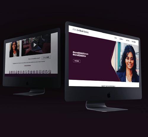 "ASUS Computer Inc. ""Incredible Is Women"" Website - E-Commerce"