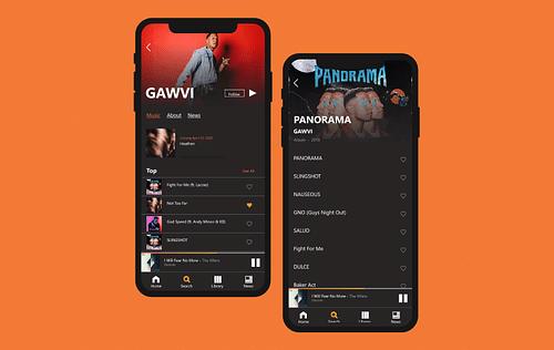 Social Music Streaming App - Mobile App