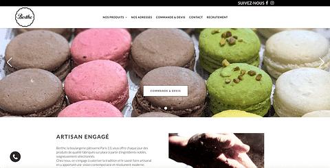 Création de site de la Boulangerie Berthe