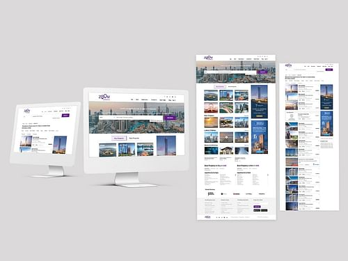 Web developement project for Zoom Property - Website Creation