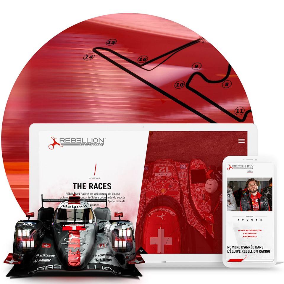Rebellion Racing – Site web sur mesure